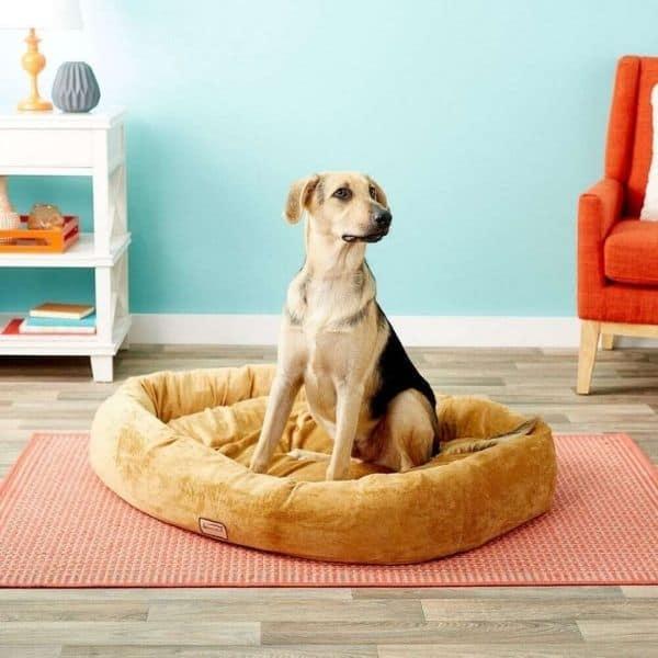 Armarkat Bolster Cat & Dog Bed, Brown