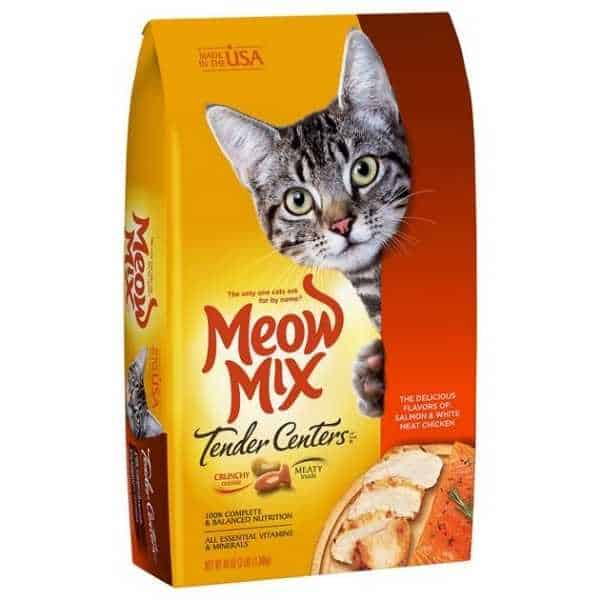 Meow Mix Tender Centers Salmon & White Meat Chicken Dry Cat Food