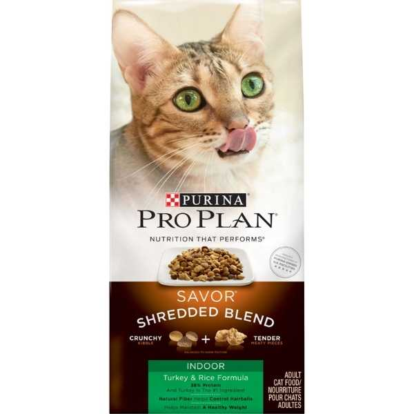 Purina Pro Plan Savor Shredded Blend Indoor Turkey & Rice Formula Dry Cat Food
